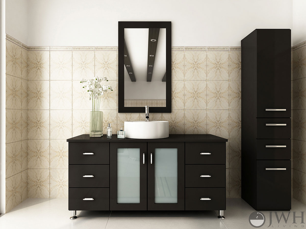 47 Grand Lune Single Bathroom Vanity  Espresso