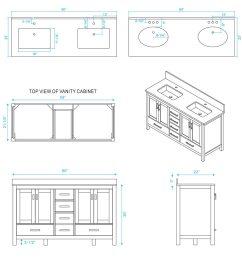 60 sheffield double sink vanity dimensions [ 900 x 1200 Pixel ]