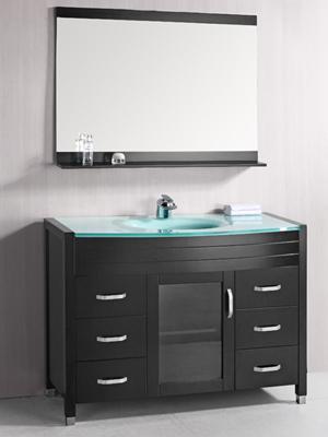 48 Waterfall Single Bath Vanity Glass Top