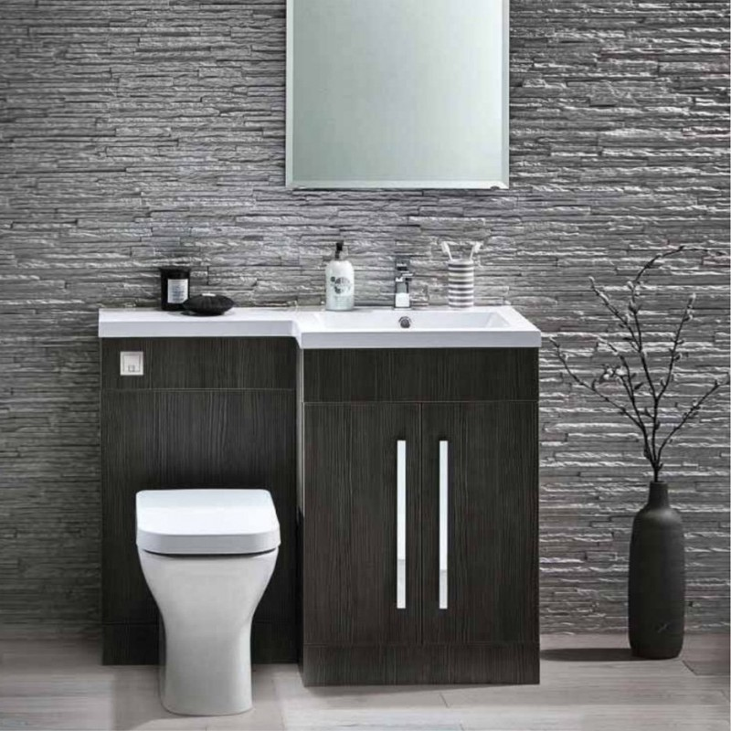 L1100 LShape Furniture Pack Avola Grey  Bath Giant