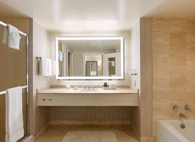 Marriott Hotel Lighted Bathroom Mirrors  LED Bathroom