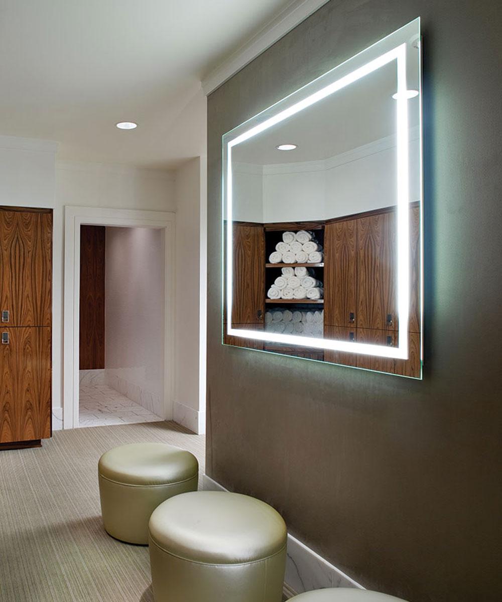 Hotel Bathroom Mirror with LED Backlit  LED Bathroom