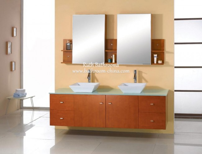 kitchen vanity the best faucets 双洗手盆的虚荣心 chinese factory in bathroom 浴室柜 浴室 double vessel sink