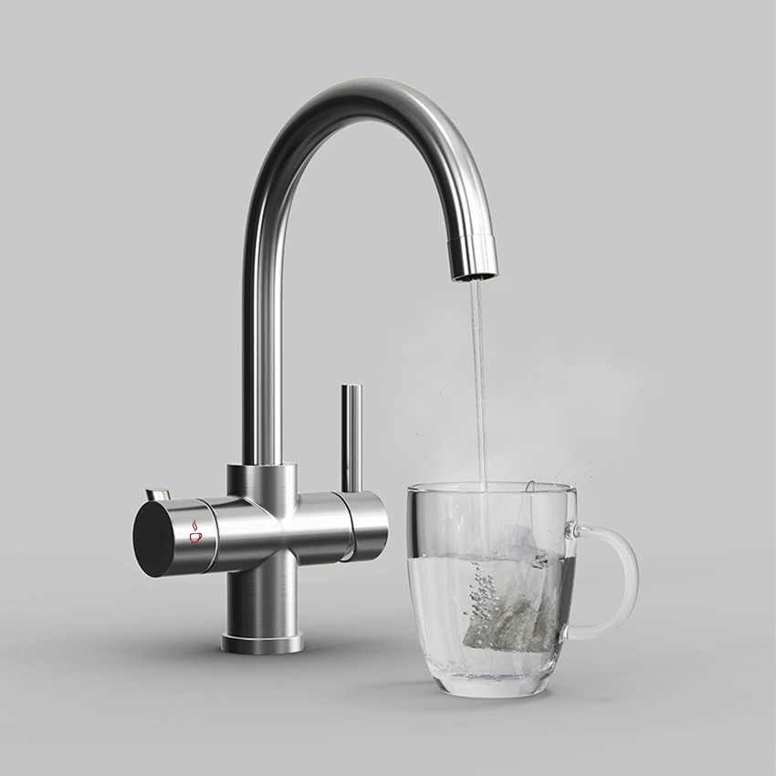 soho 3 way instant hot water kitchen tap complete unit chrome