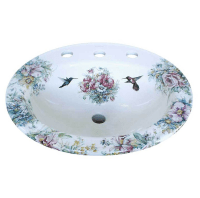 Bathroom Sinks - Hand painted in the USA