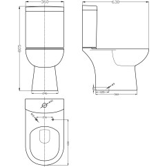 Dual Flush Toilet Cistern Diagram Sony Cdx Gt310 Car Stereo Wiring Lawton Compact Close Coupled Short Projection Pan