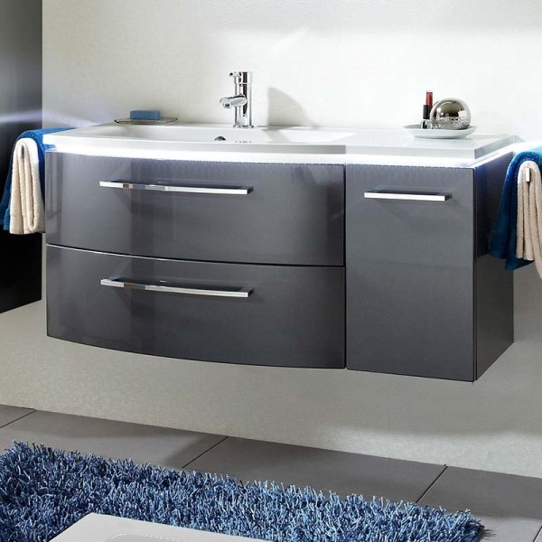 Lunic 1100 Wall Hung Vanity Unit With Left-handed Basin