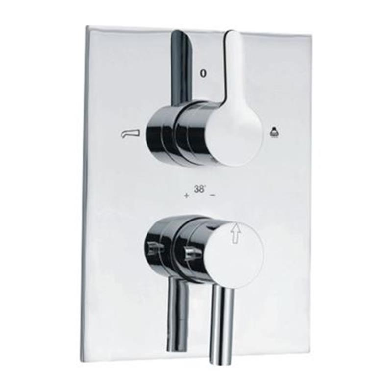 Fusion Thermostatic Concealed Bath and Shower Valve 20mm