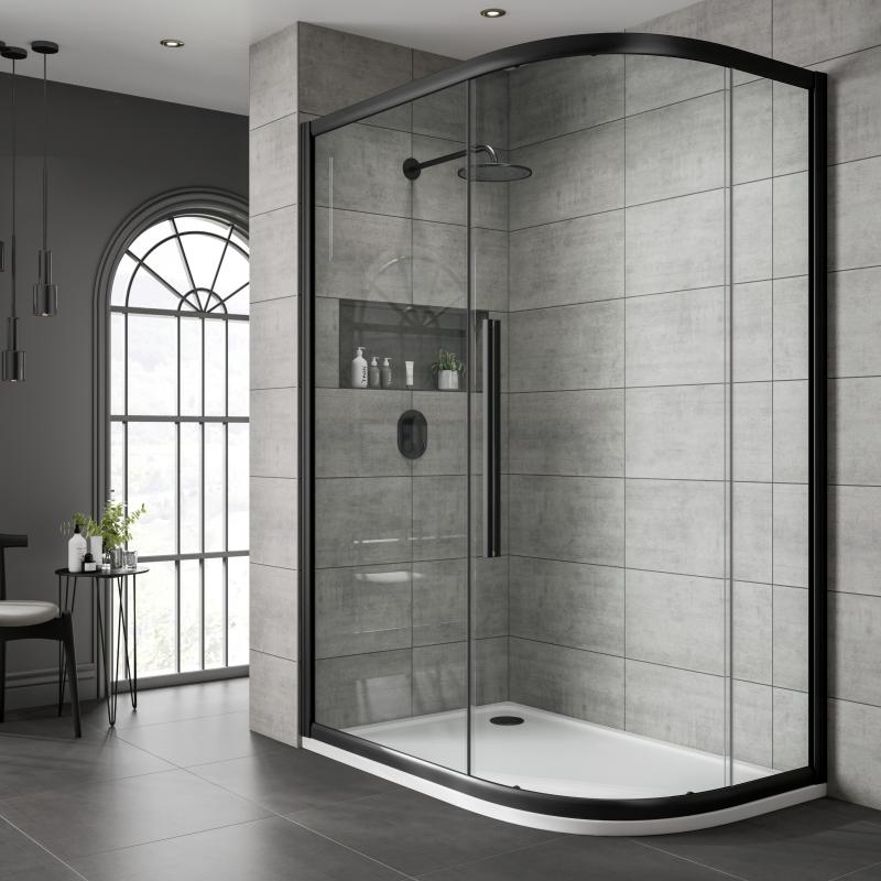 Jaquar Black Shower Cubicle Clear Glass Offset Quad Buy Online At Bathroom City