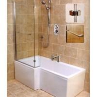 L Shape Shower Bath (left Handed) Buy Online at Bathroom City