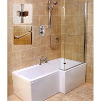 L Shape Shower Bath Right Handed | Bathroom City