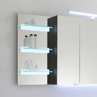 Solitaire 7005 Illuminated Mirror Glass Shelf 700x350x150 ...