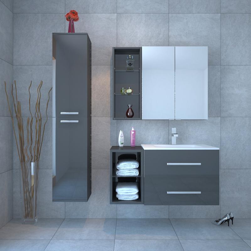 Sonix Bathroom Furniture Vanity Suite Grey Buy Online at