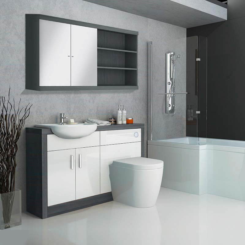 Hacienda Fitted Furniture Pack White Buy Online at Bathroom City