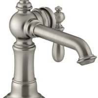 KOHLER K-72762-9M-BN Artifacts Single-handle bathroom sink faucet, Vibrant Brushed Nickel
