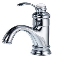 BWE Classic Deck Mounted Centerset Brass Bathroom Sink Faucet Basin Mixer Tap Chrome Finish
