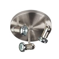 CANARM LTD. ICW391A03BCH10 Shay 3 Bulb Ceiling/Wall Light, Brushed Pewter