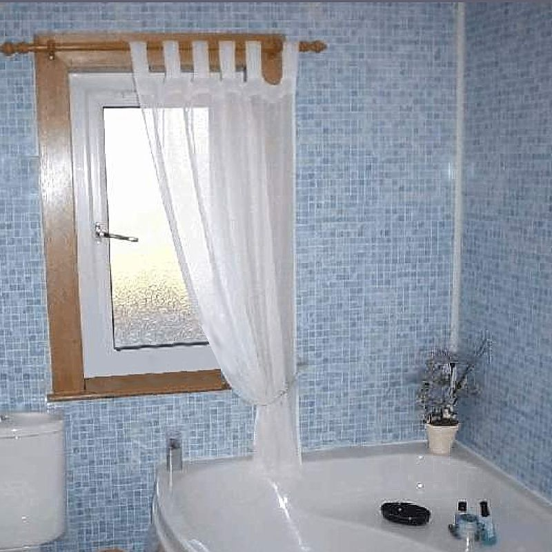 Blue Bathroom Wall Panels