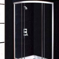 Neptune Black Sparkle Shower Panels from The Bathroom Marquee