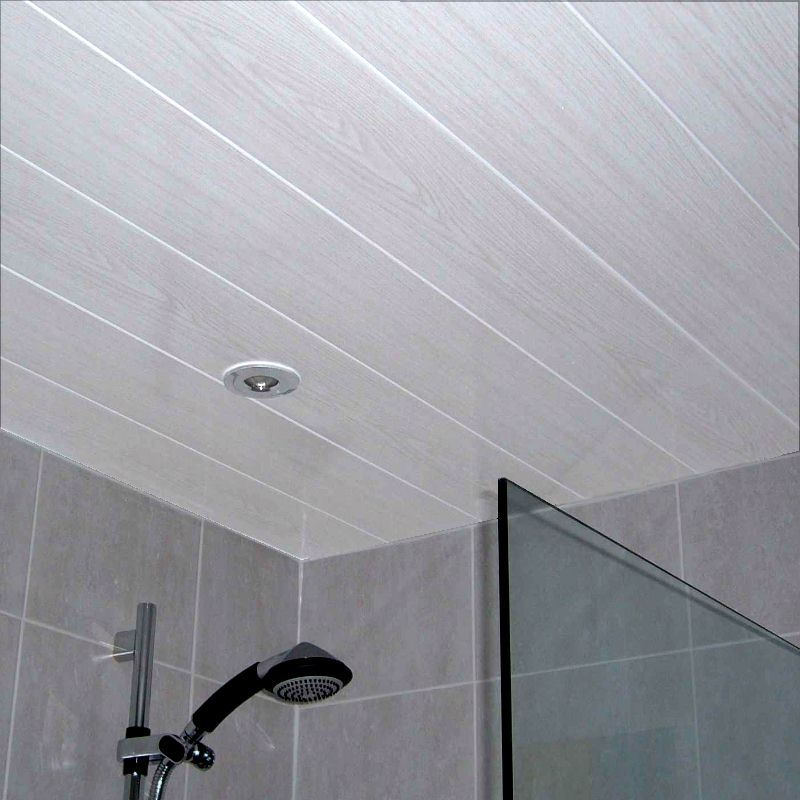 Belmont White Ash 2.7m Ceiling Panels from The Bathroom