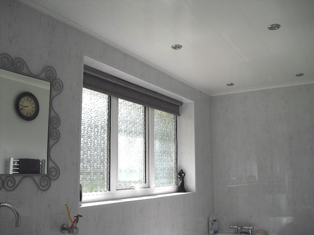 Installation  Ceiling Panels With Battens  The Bathroom