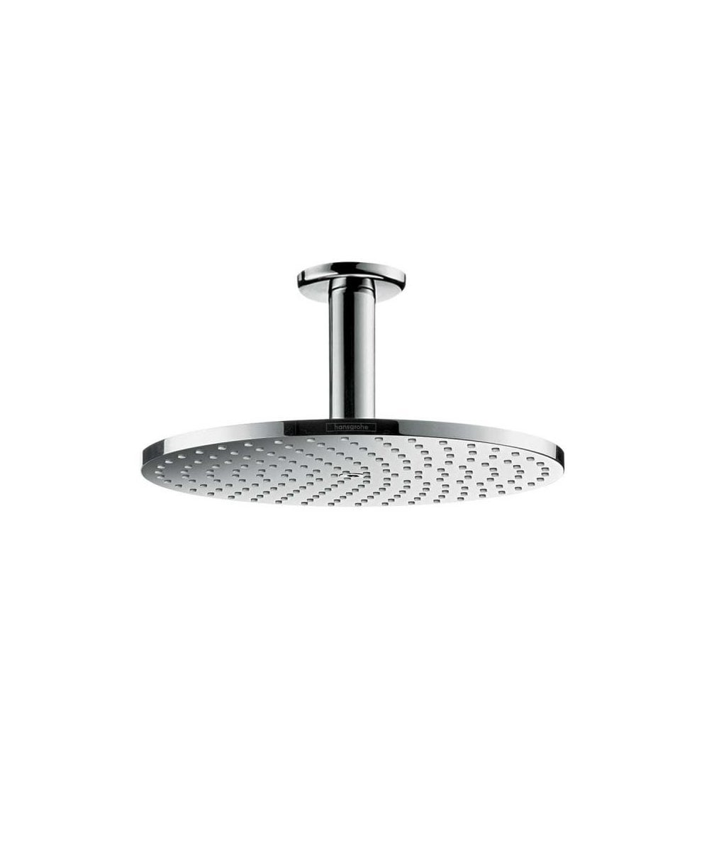 Hansgrohe Raindance S 240 1jet P Overhead Shower With 100mm Ceiling Shower Arm Powderrain