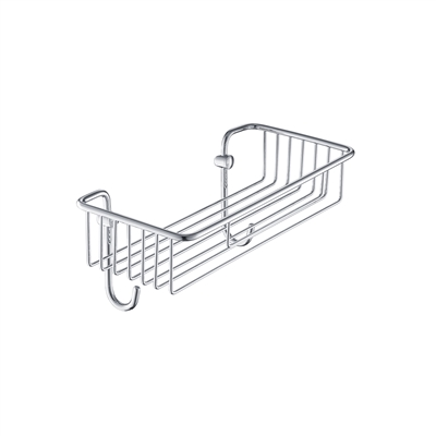 Contemporary Wall-Mounted Polished Chrome Rectangular Wire
