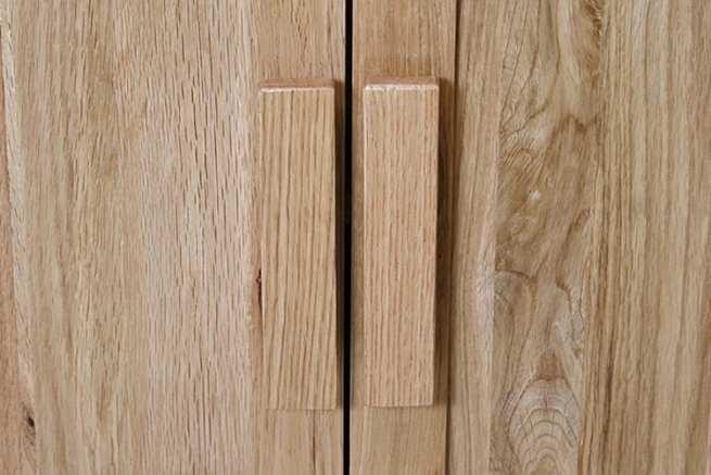 Oak Vanity Unit Wooden Handles