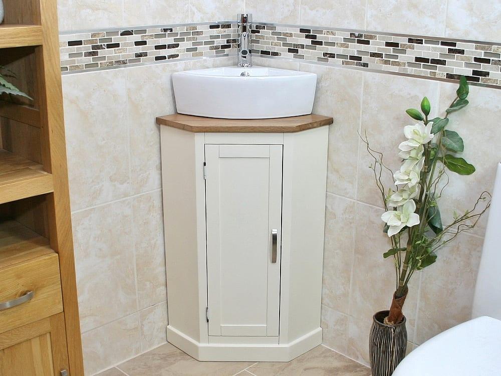 painted white oak top painted corner unit basin choice 501pcbc