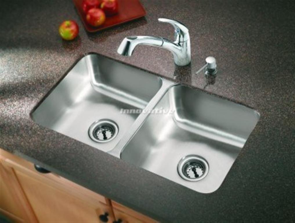 Double Bowl Under Mount Kitchen Sink Under Counter 780x445x180  Innovative