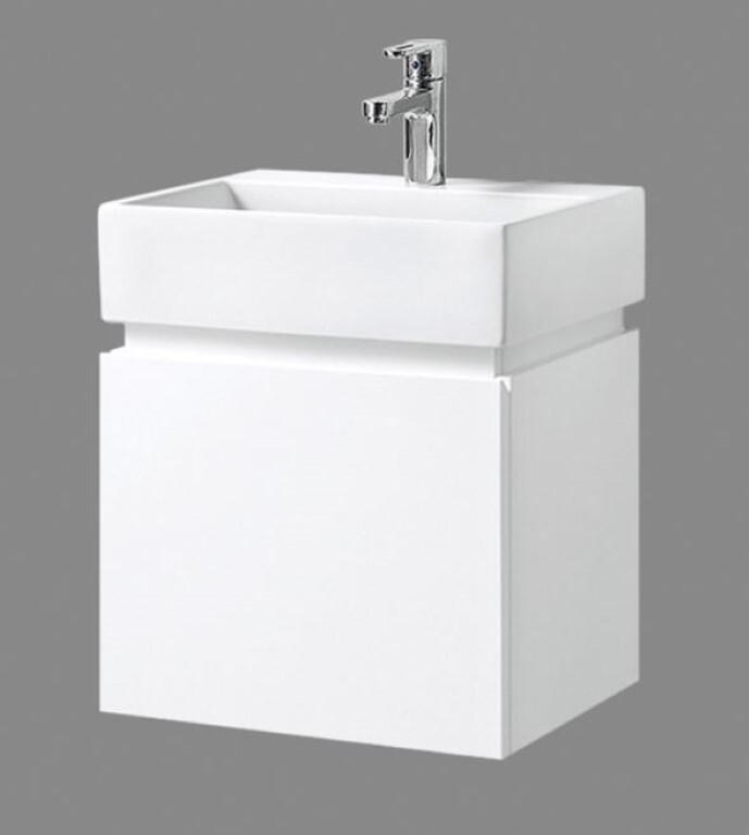 Bathroom Wall Hung Vanity Narrow Slim  Ceramic Basin 480W