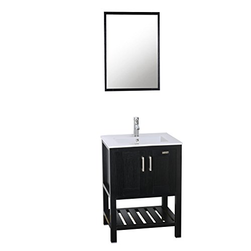 White Mdf Modern Bathroom Cabinet, 24 Inch Bathroom Vanity Combo