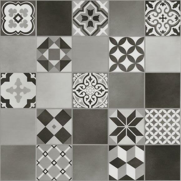 malmo kuvio grey stick down luxury vinyl tile flooring