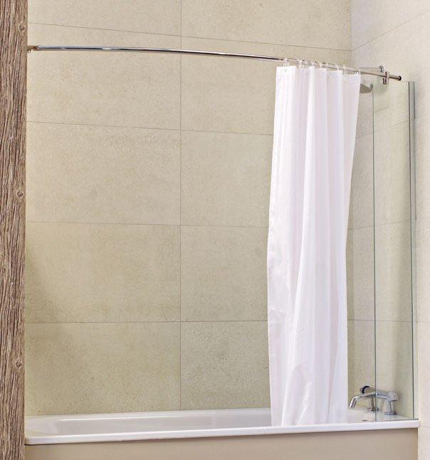 roman lumin8 mini fixed bath screen