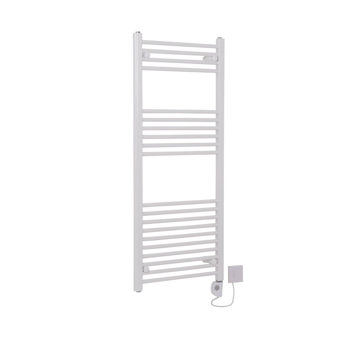 Bathroom White Electric Ladder Heated Towel Rail Warmer