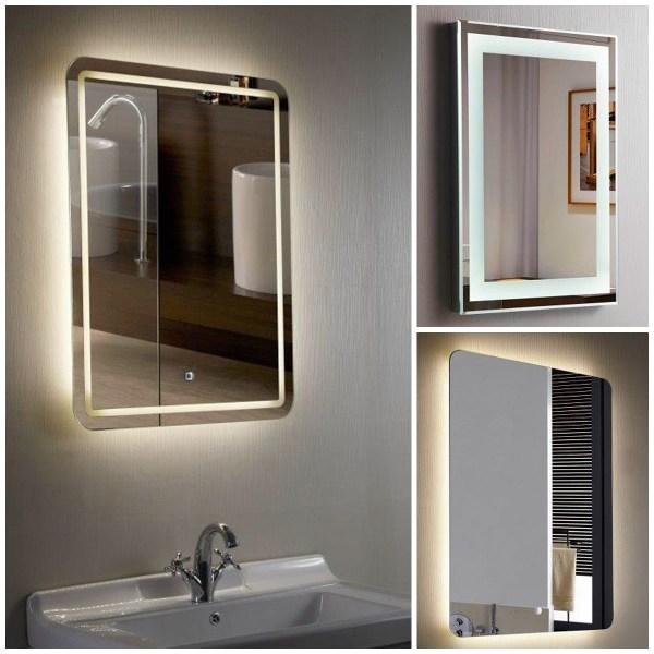 Designer Illuminated Led Bathroom Mirrors With Demister