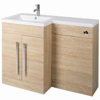 Bathroom Vanity Unit Designer Furniture Suite Back to Wall ...