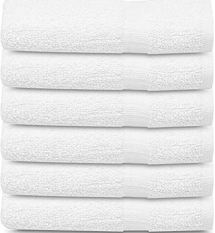 12 White Economy Pure Cotton Maximum Softness Hotel Gym Spa Bath Towel 24x50