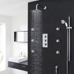 Buy Genoa Square Bathroom Shower Set With Rainfall Shower Head Hand Shower Best Sale