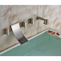Wall Mounted Waterfall Tub Faucet Brushed Nickel. wall ...