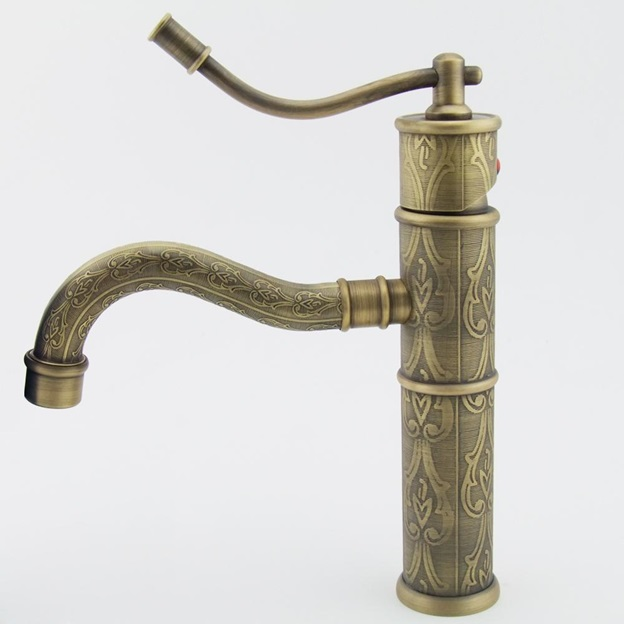 lavorato antique single handle luxury carved sink faucet