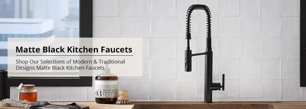 matte black kitchen faucets bathselect