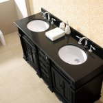 On Sale Now Large Selection Milan Bathroom Vanity Set With Black Granite Vanity Top White Sink At Bathselect