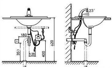 Installation instructions ADA commercial motion sensor faucets