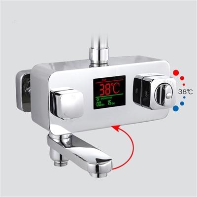 atlanta digital display thermostatic shower mixer faucet