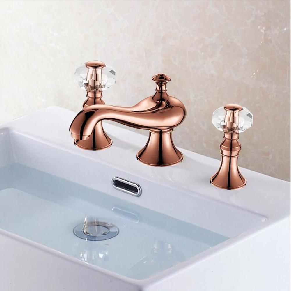 metz rose gold lavatory sink faucet