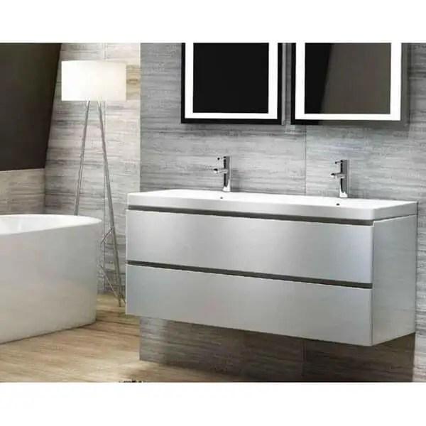 Synergy Linea 1200mm Wall Hung Vanity Unit Double Basin 10507 Bathshack