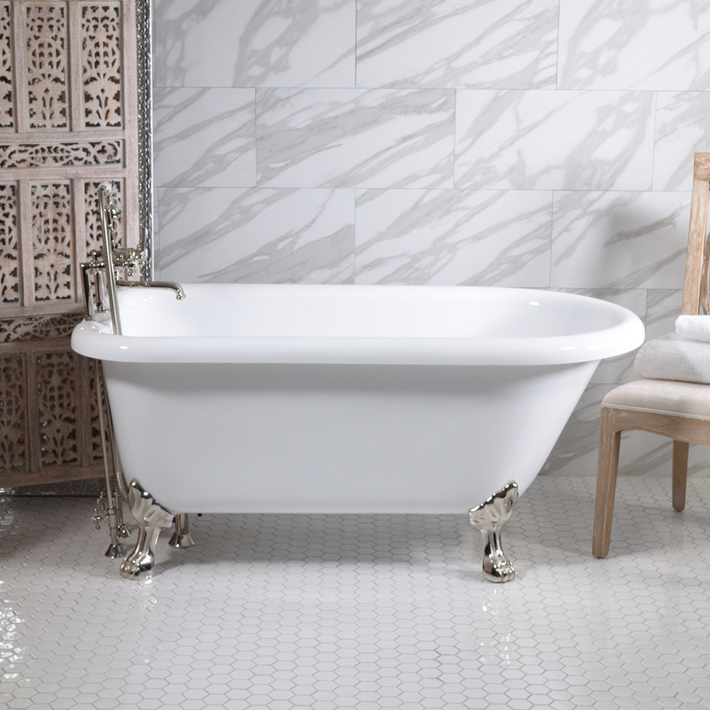HLFL62FPK 62 Hotel Collection Classic Clawfoot Tub and