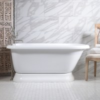"""HLFLPD65FPK 65"""" Hotel Collection Pedestal Tub and Faucet Pack"""
