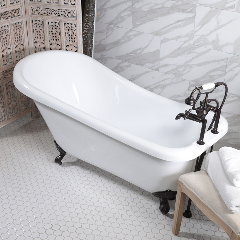 HLSL59FPK 59 Hotel Collection Single Slipper Clawfoot Tub